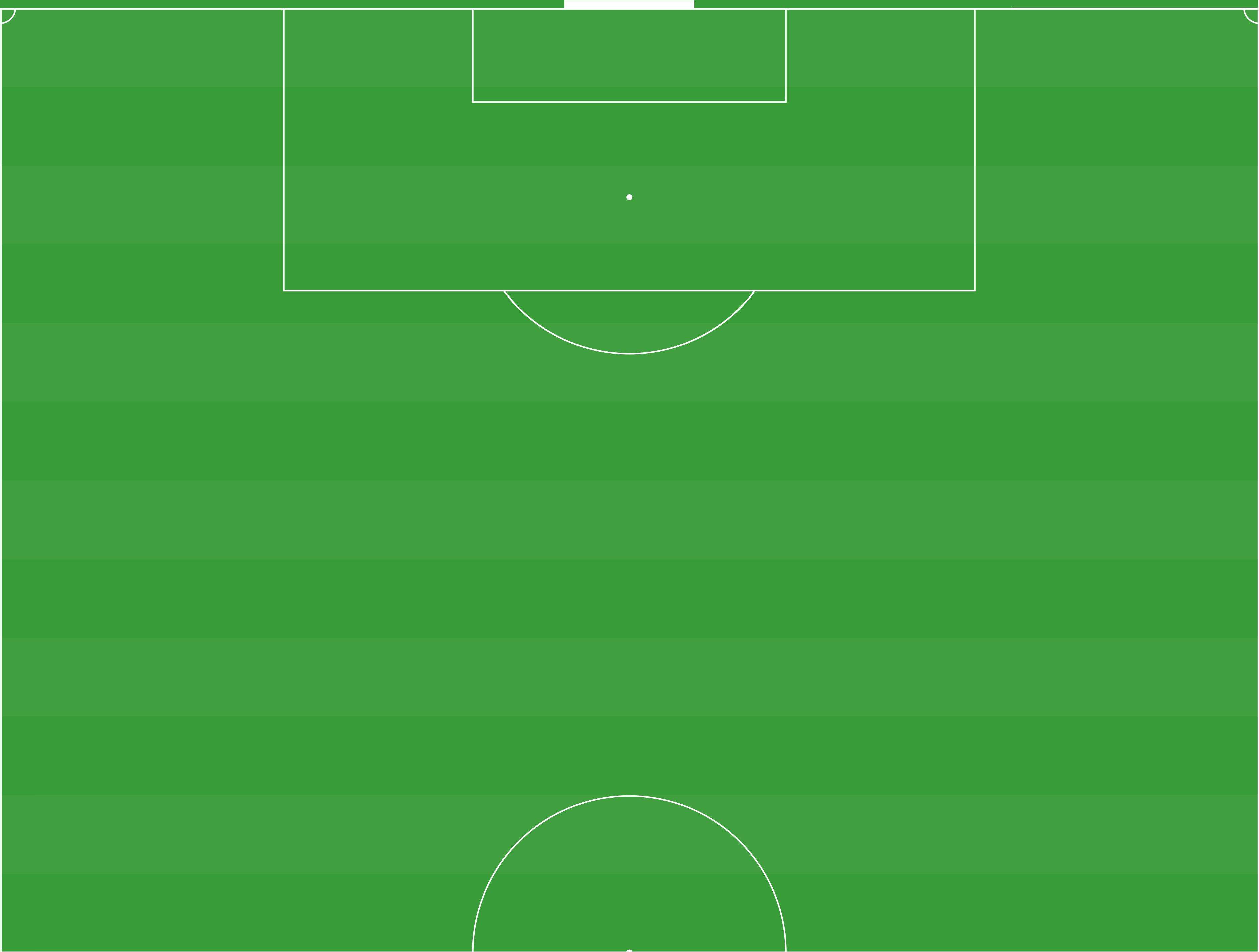 Half soccer field template